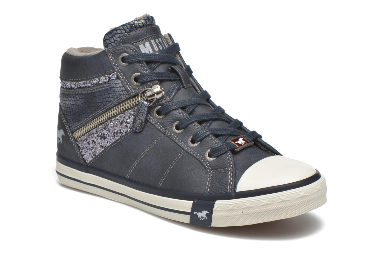 Baskets Mustang shoes Leni Bleu vue détail/paire