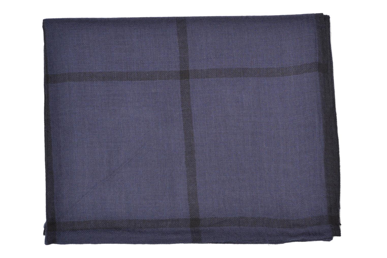 Divers Petite mendigote HARISSA Foulard laine 100x200 Bleu vue derrière