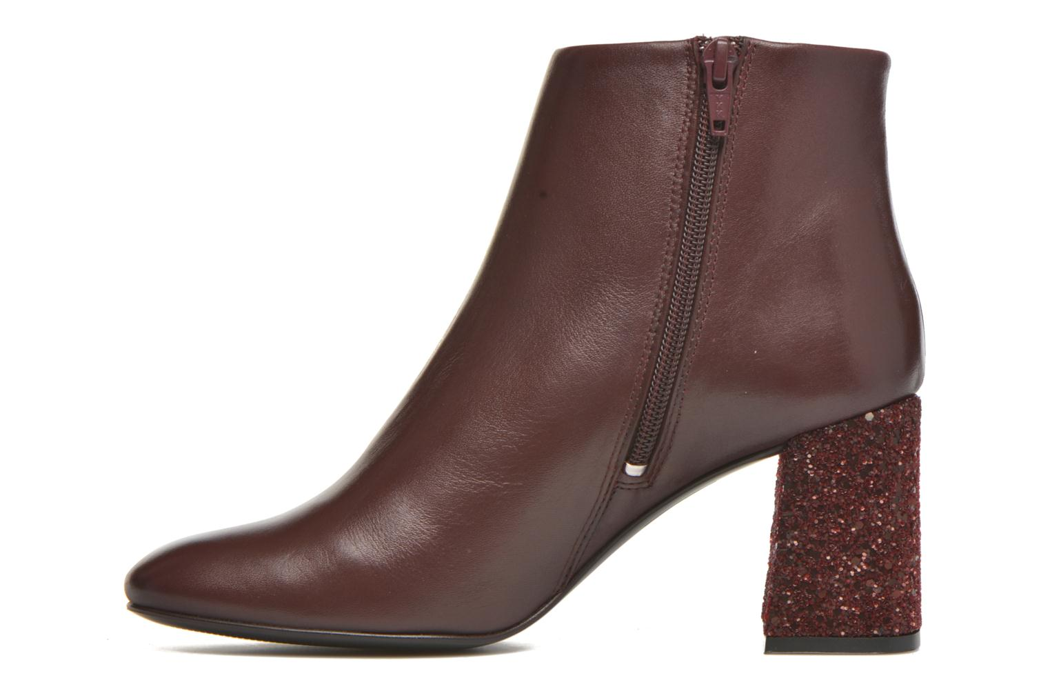 Ankle boots Georgia Rose Divala Burgundy front view