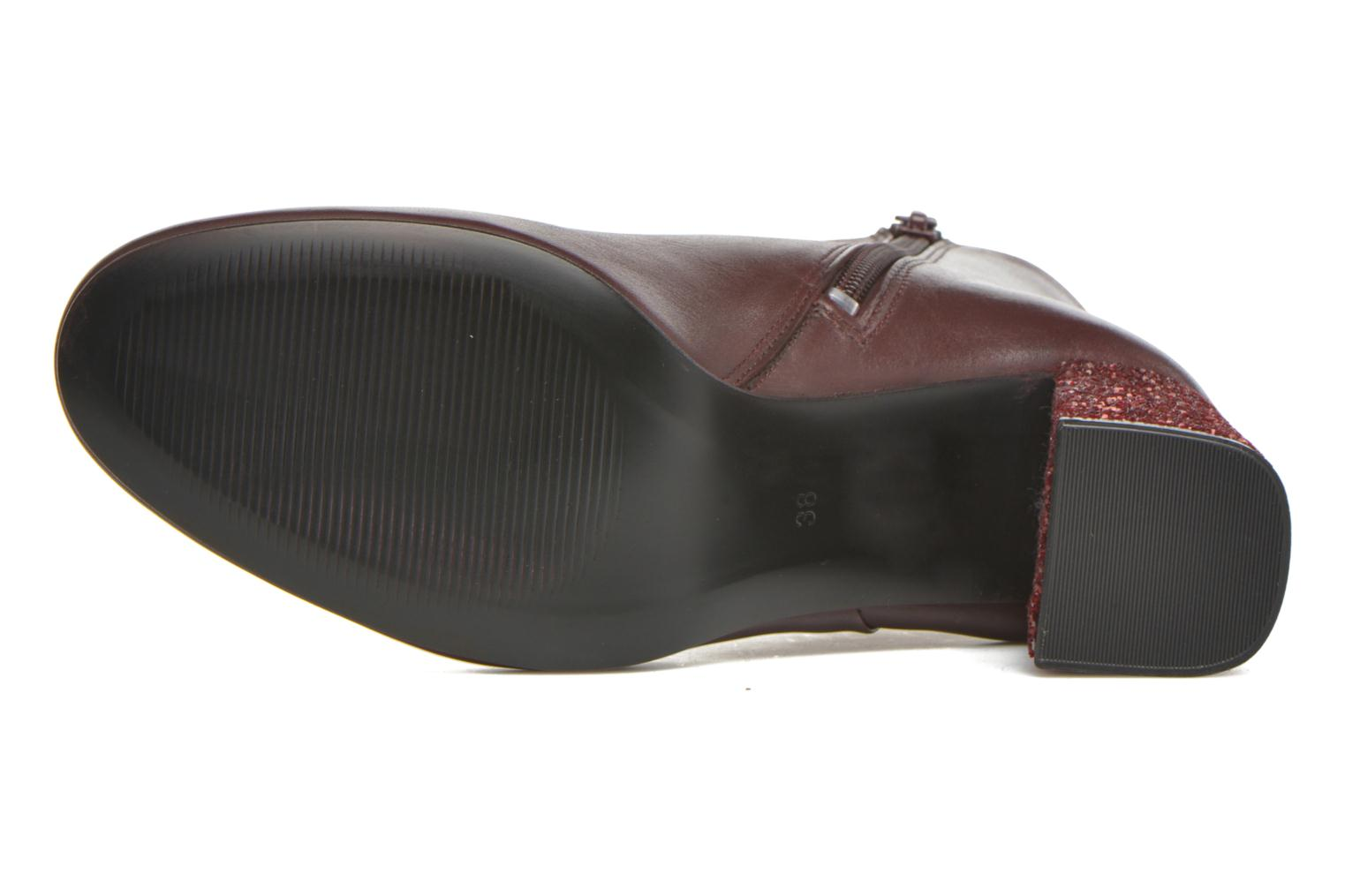 Ankle boots Georgia Rose Divala Burgundy view from above