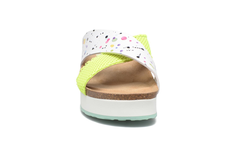Mules et sabots Desigual SHOES_BIO 10 MEGARA 4 Blanc vue portées chaussures