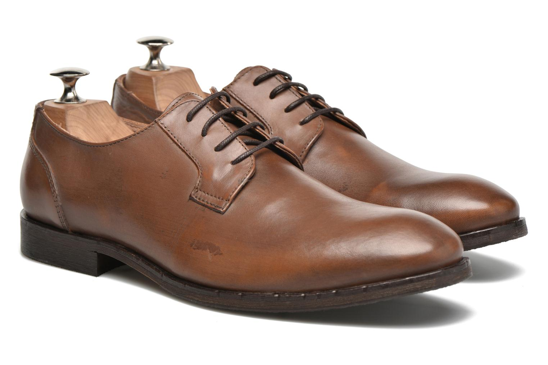 Chaussures à lacets Selected Homme Antonio Marron vue 3/4