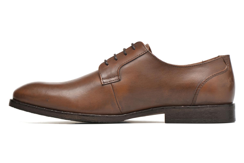Chaussures à lacets Selected Homme Antonio Marron vue face