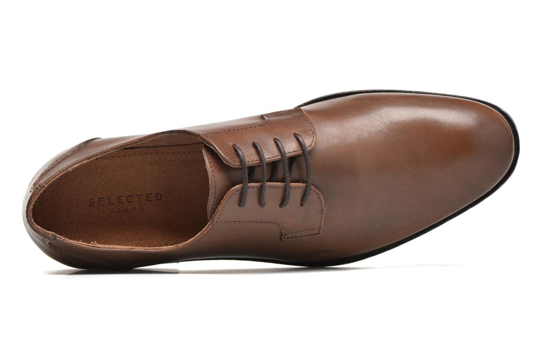 Chaussures à lacets Selected Homme Antonio Marron vue gauche