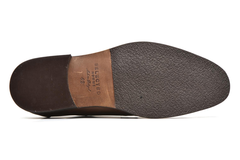 Chaussures à lacets Selected Homme Antonio Marron vue haut