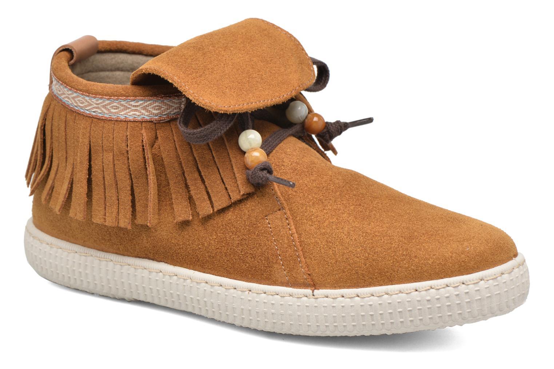 Sneaker Victoria Botin Flecos Serraje F braun detaillierte ansicht/modell