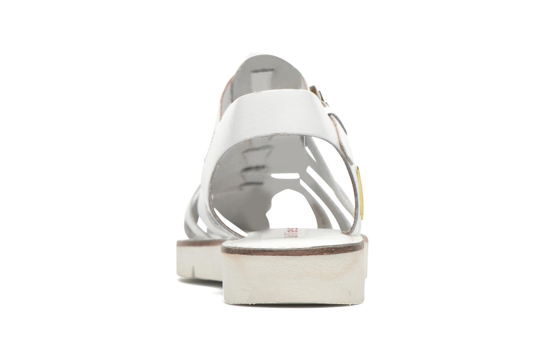 Sandales et nu-pieds Les Tropéziennes par M Belarbi Maria Blanc vue droite