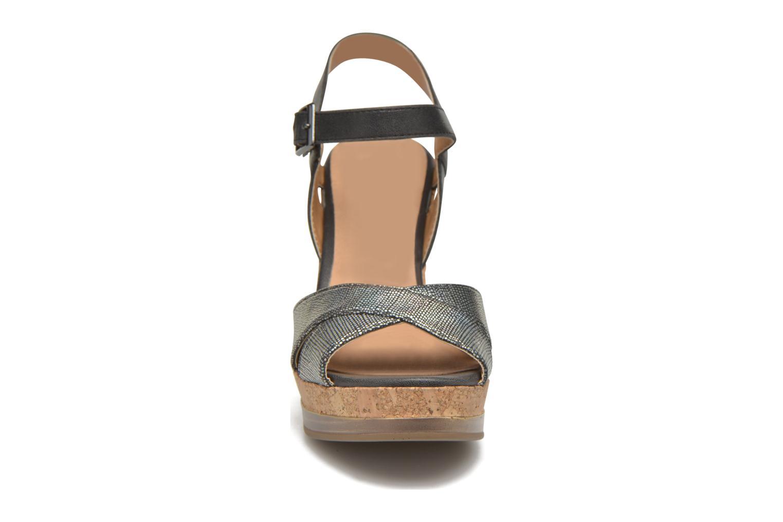 Sandales et nu-pieds Initiale Paris Carat Noir vue portées chaussures