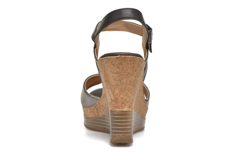 Sandales et nu-pieds Initiale Paris Carat Noir vue droite