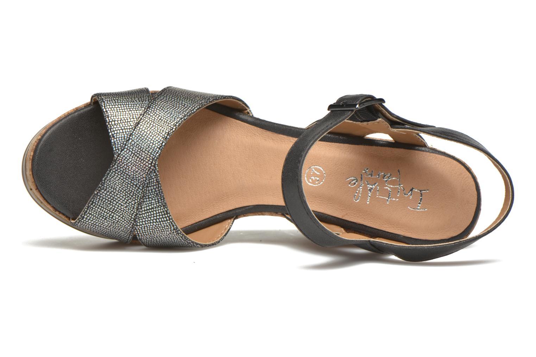 Sandales et nu-pieds Initiale Paris Carat Noir vue gauche