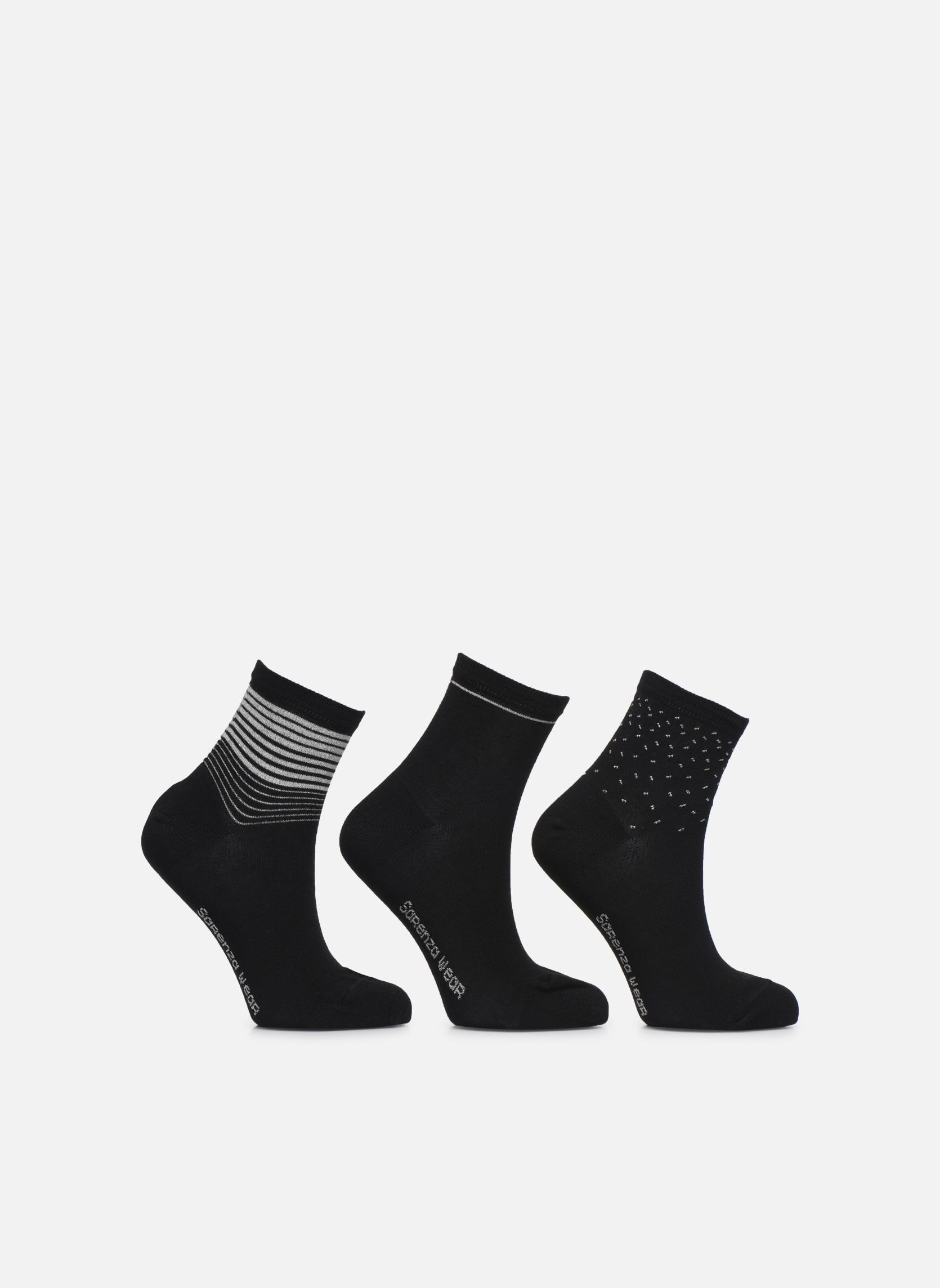 Chaussettes lurex Pack de 3 Noir