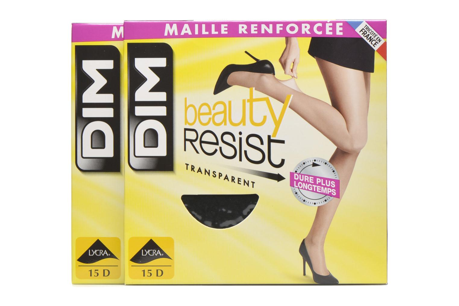 Sokken en panty's Dim Collant Beauty Resist transparant Pack de 2 Zwart detail