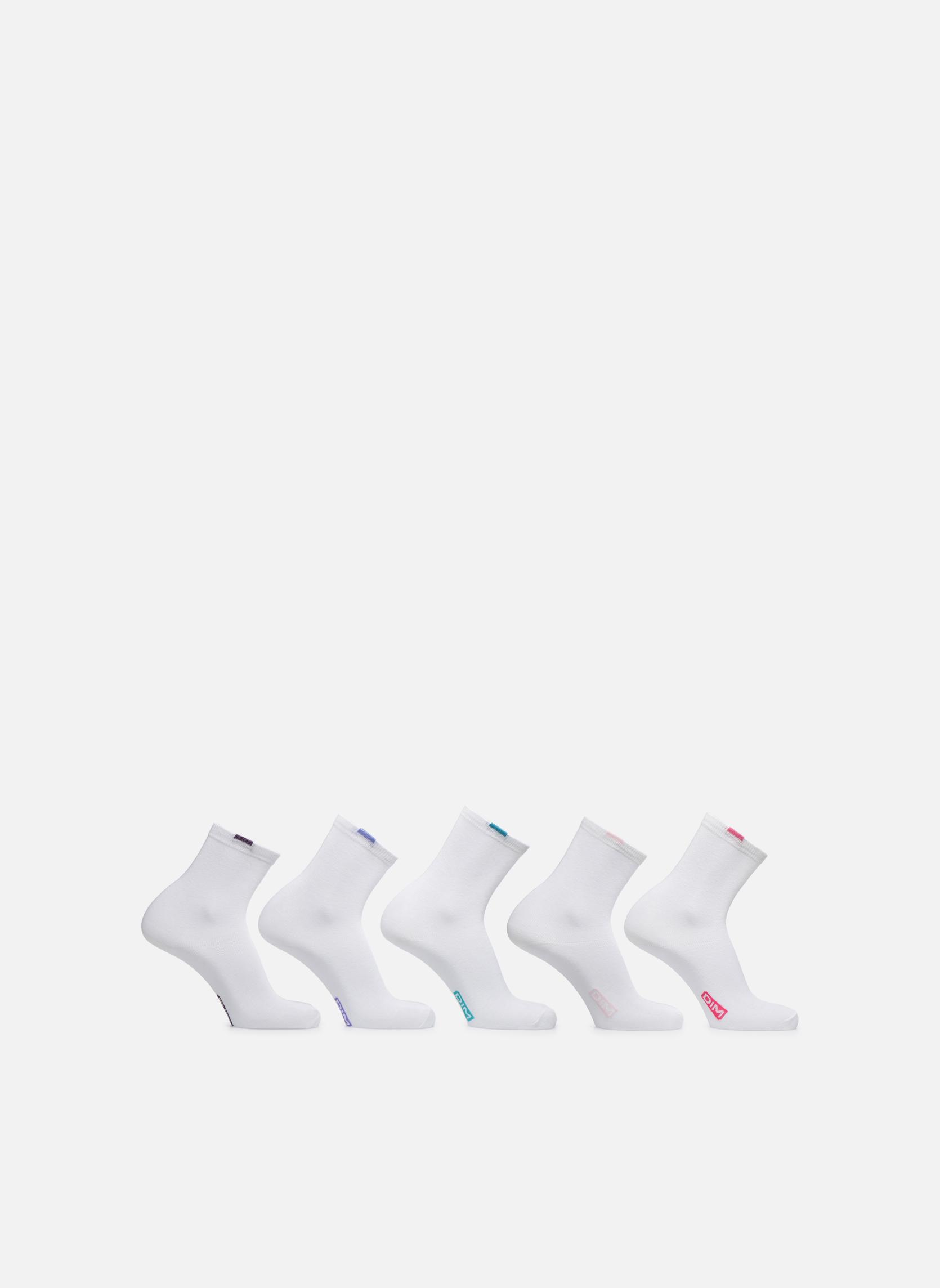Chaussettes EcoDimW Pack de 5 0HY Blanc