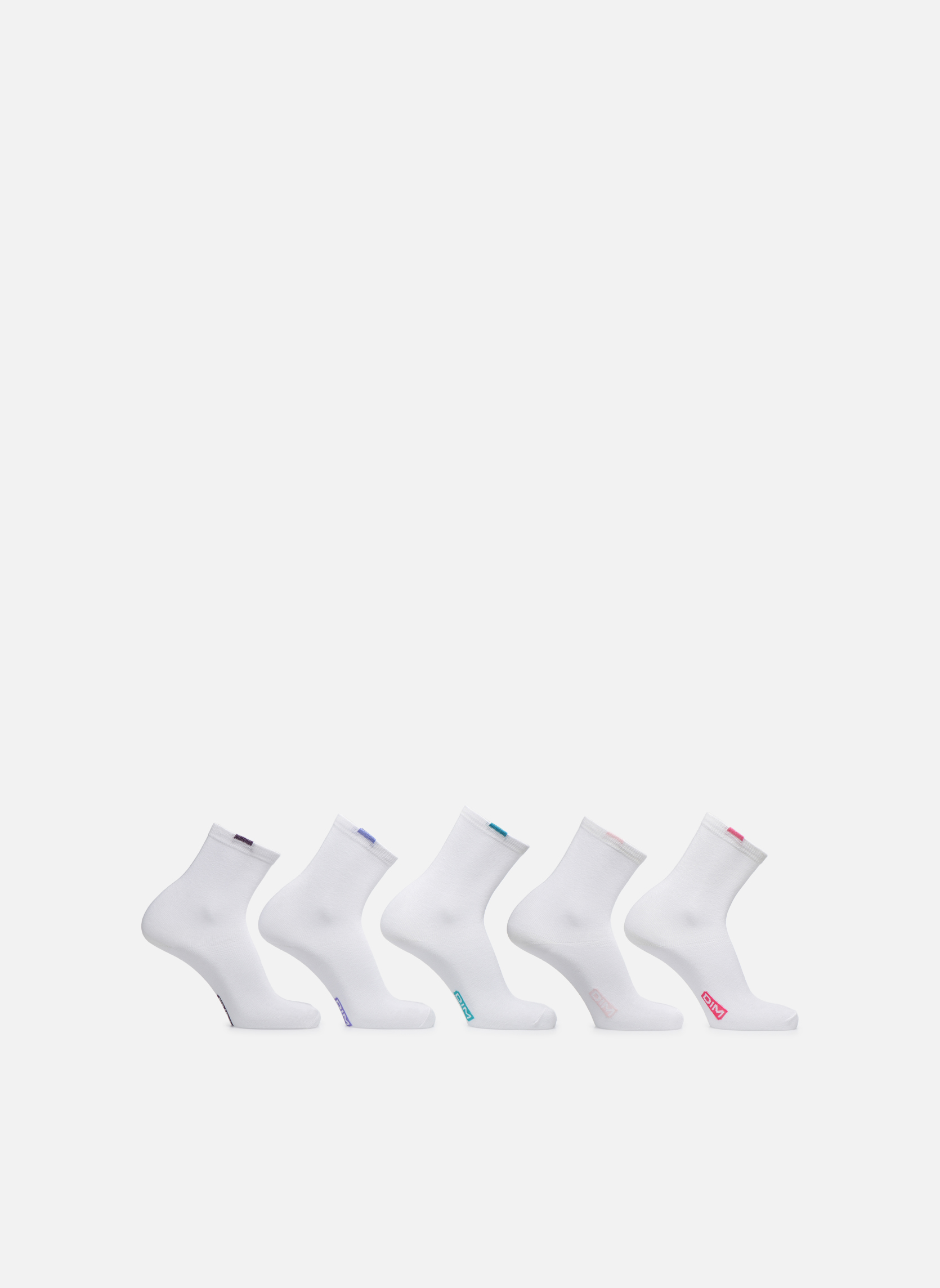 Chaussettes et collants Dim Chaussettes EcoDimW Pack de 5 Blanc vue détail/paire