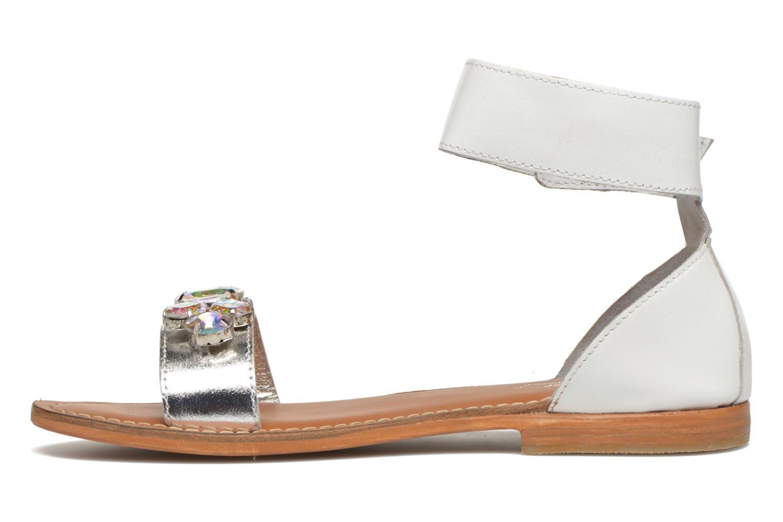 Sandales et nu-pieds L'Atelier Tropézien Sylvette Blanc vue face