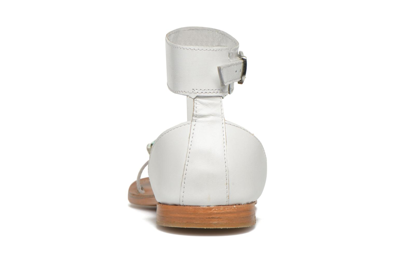 Sandales et nu-pieds L'Atelier Tropézien Sylvette Blanc vue droite