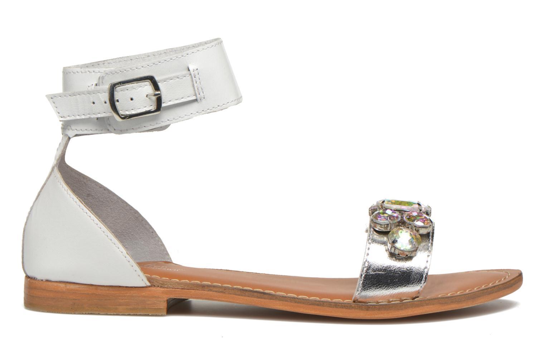 Sandales et nu-pieds L'Atelier Tropézien Sylvette Blanc vue derrière