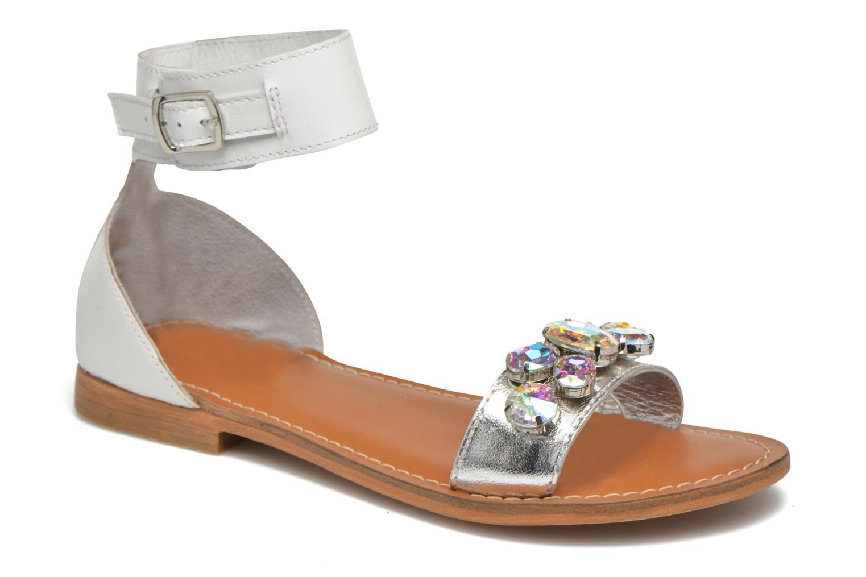 Sandales et nu-pieds L'Atelier Tropézien Sylvette Blanc vue détail/paire