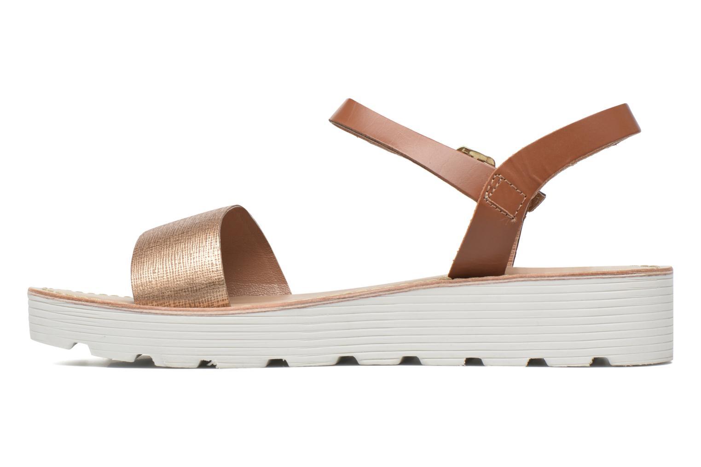Sandals L'Atelier Tropézien Guillemette Bronze and Gold front view