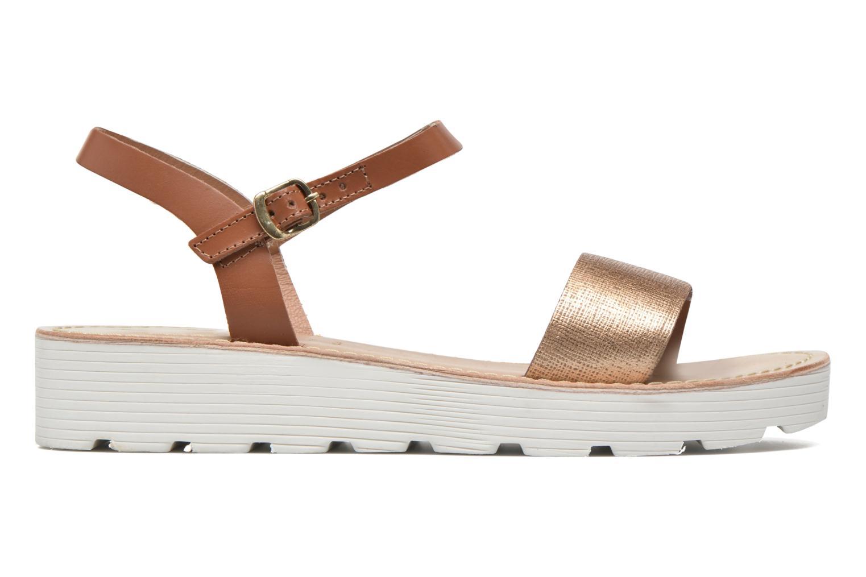 Sandals L'Atelier Tropézien Guillemette Bronze and Gold back view