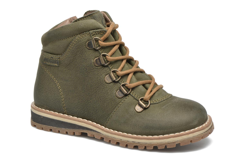 Chaussures à lacets Aigle Cartwell Kid Vert vue détail/paire