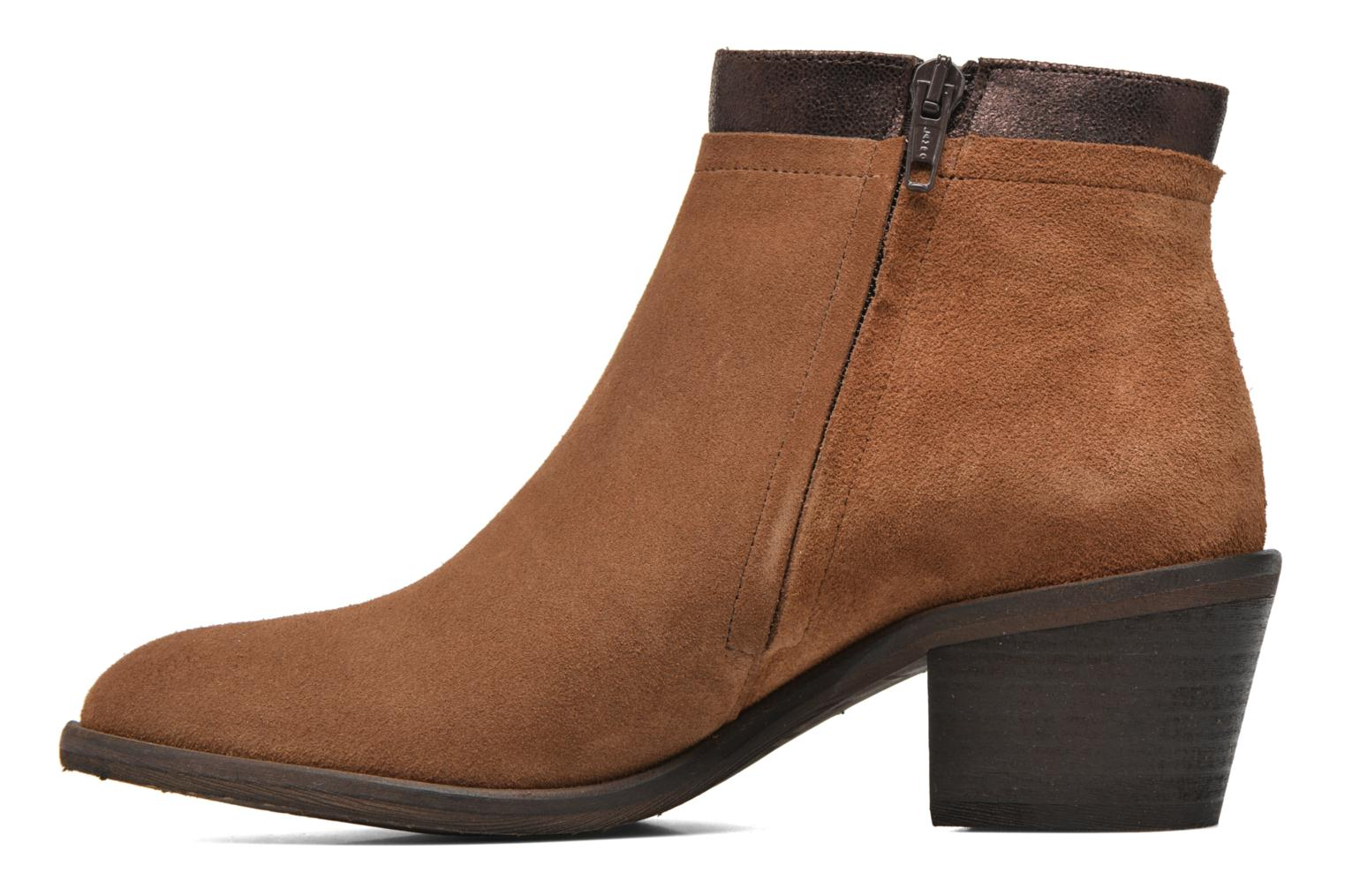 Ankle boots Schmoove Woman Neptune zip boots Brown front view