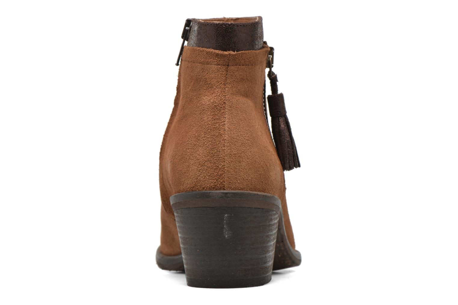 Ankle boots Schmoove Woman Neptune zip boots Brown view from the right