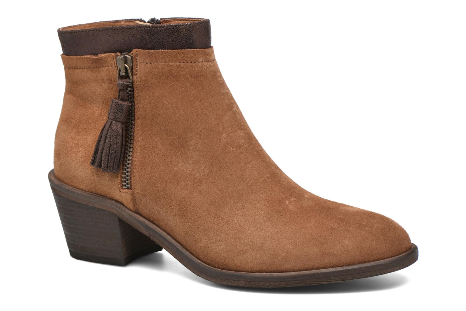 Bottines et boots Schmoove Woman Neptune zip boots Marron vue détail/paire
