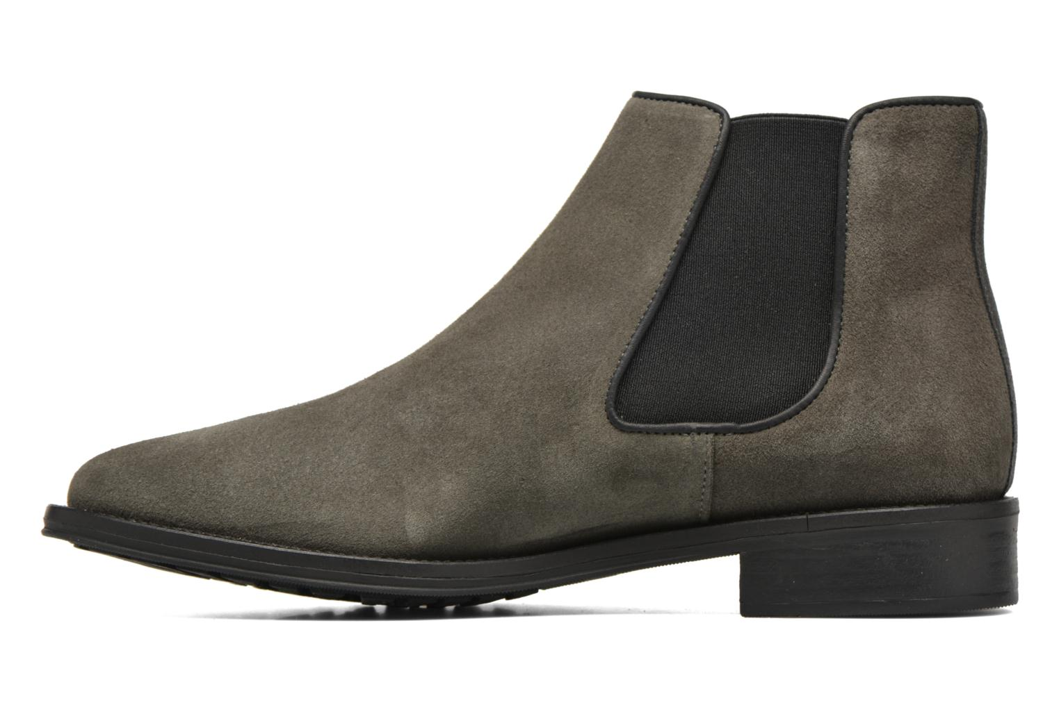 Ankle boots Schmoove Woman Newton chelsea suede Grey front view