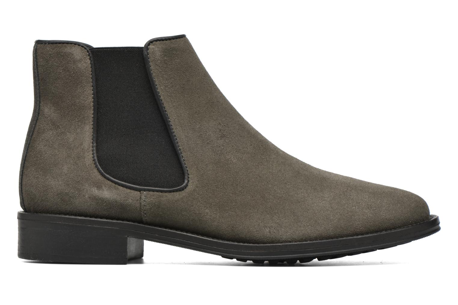 Ankle boots Schmoove Woman Newton chelsea suede Grey back view