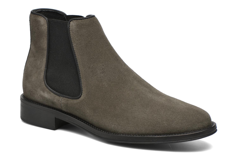 Bottines et boots Schmoove Woman Newton chelsea suede Gris vue détail/paire