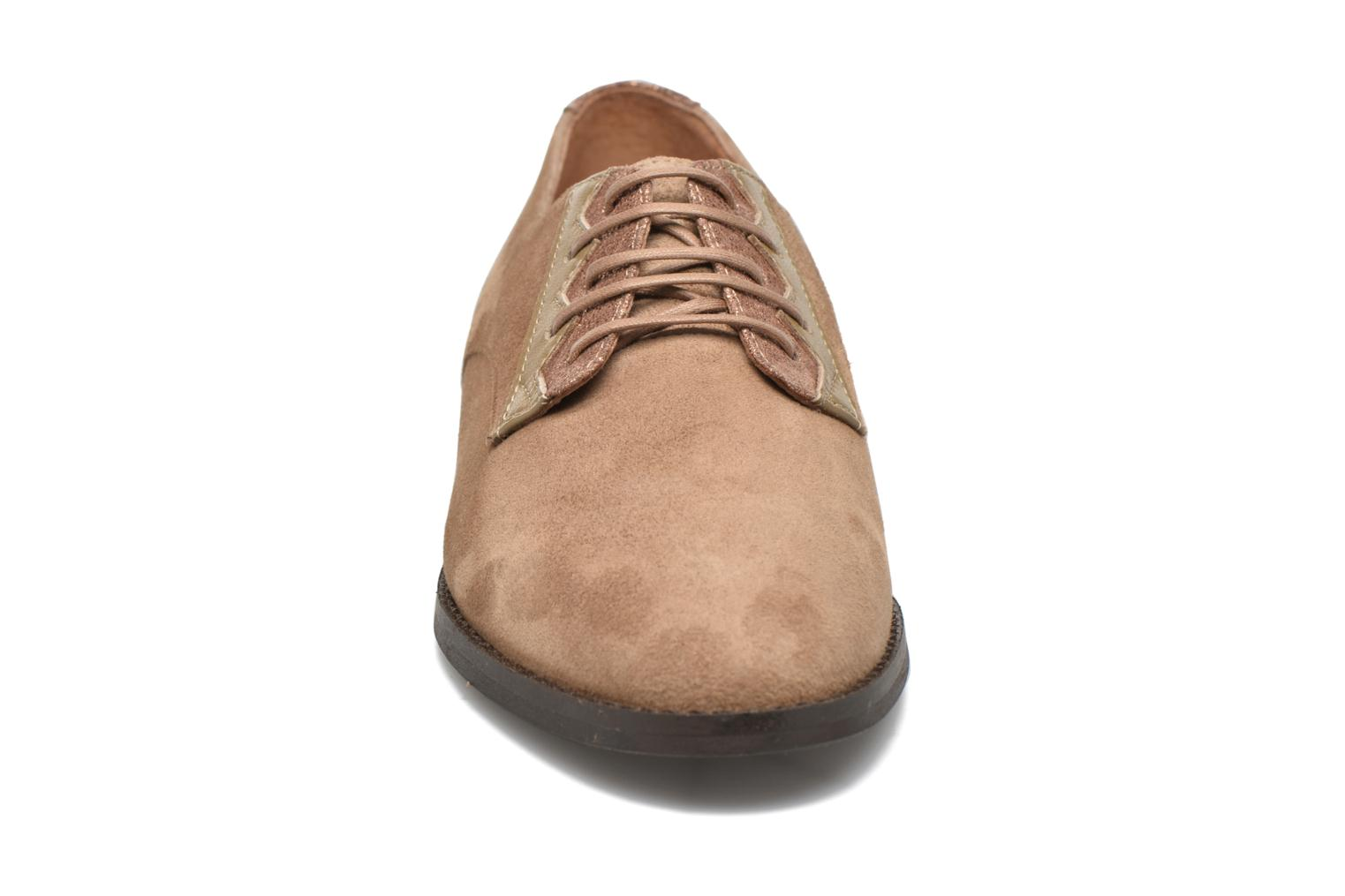 Lace-up shoes Schmoove Woman Galaxy kid suede Brown model view