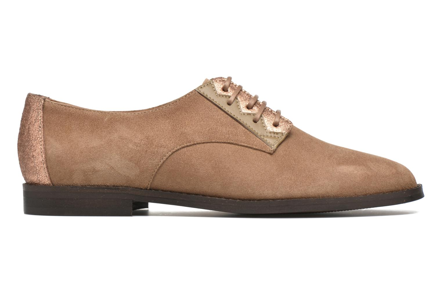 Lace-up shoes Schmoove Woman Galaxy kid suede Brown back view