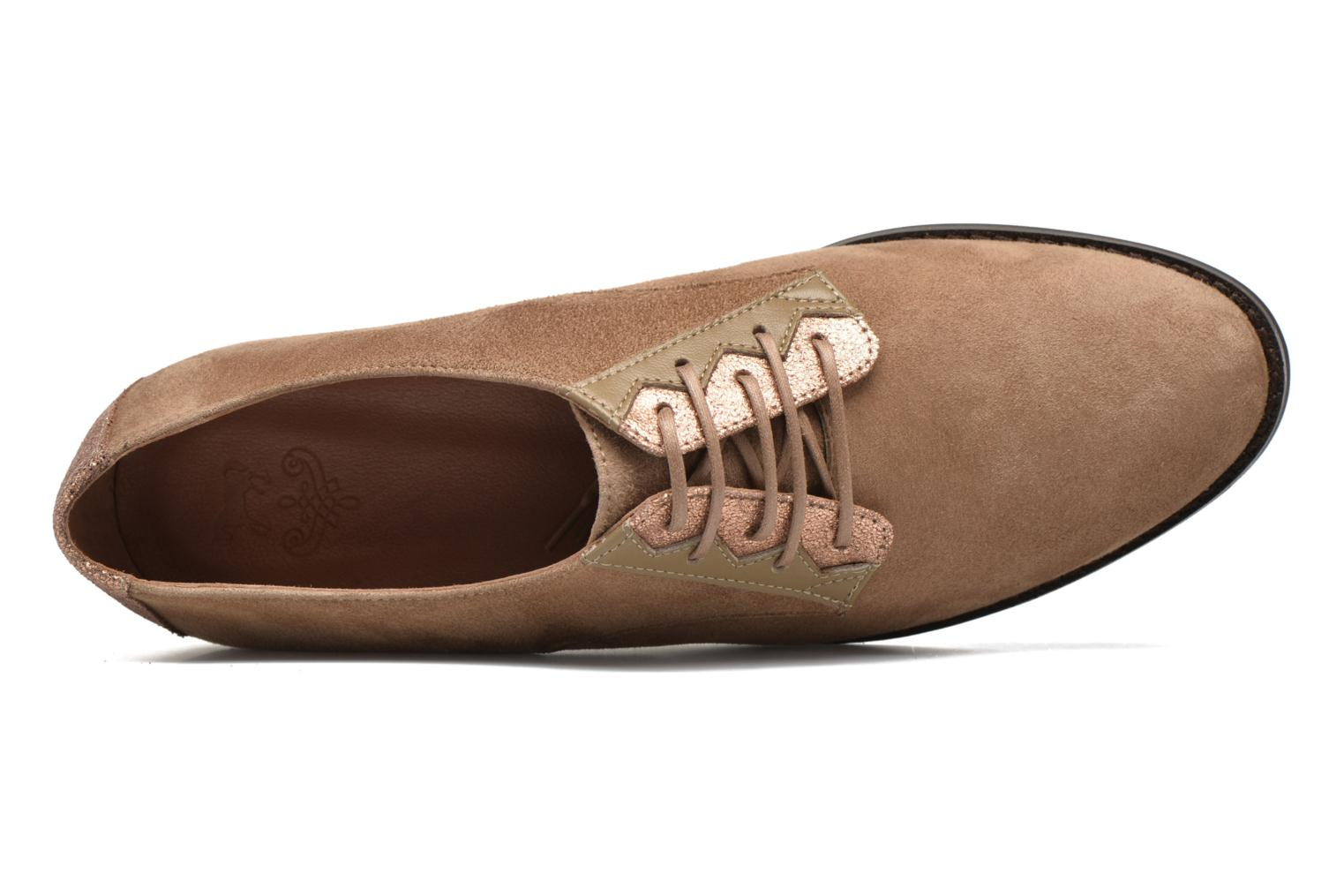 Lace-up shoes Schmoove Woman Galaxy kid suede Brown view from the left