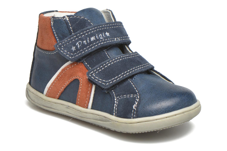 Chaussures à scratch Primigi Jordan 1 Bleu vue détail/paire