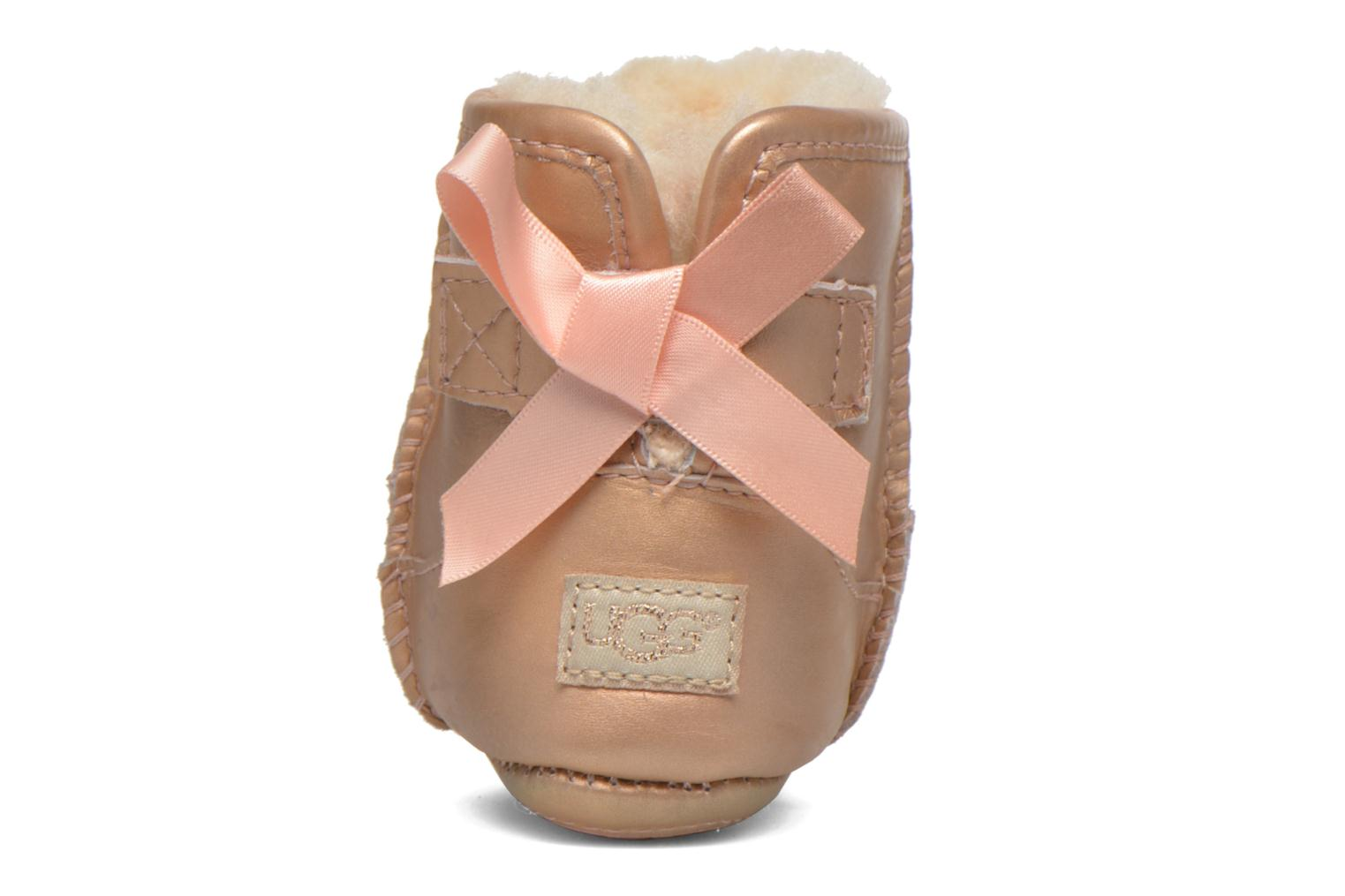 Chaussons UGG I Jesse bow metallic Rose vue droite