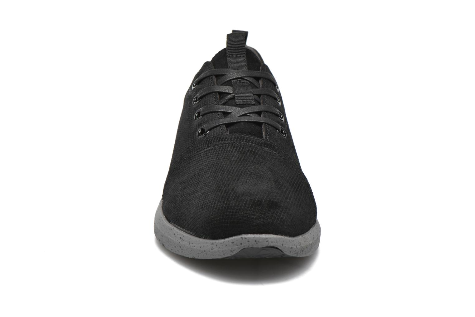 Del Rey H Black Embossed Waterproof Suede