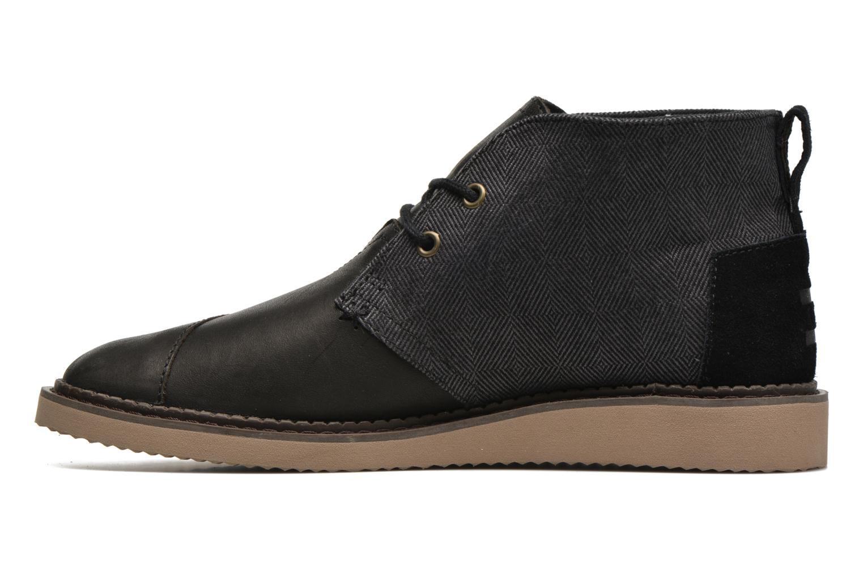 Chaussures à lacets TOMS Mateo Chukka Noir vue face