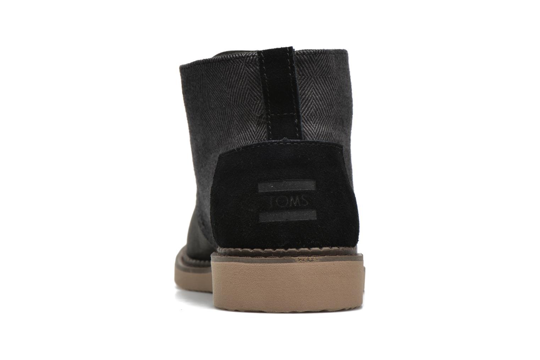 Chaussures à lacets TOMS Mateo Chukka Noir vue droite