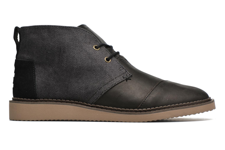 Chaussures à lacets TOMS Mateo Chukka Noir vue derrière