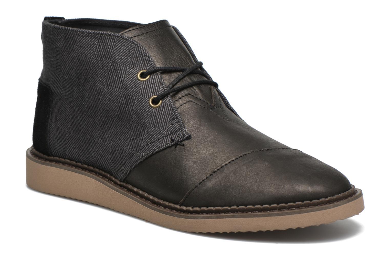 Chaussures à lacets TOMS Mateo Chukka Noir vue détail/paire