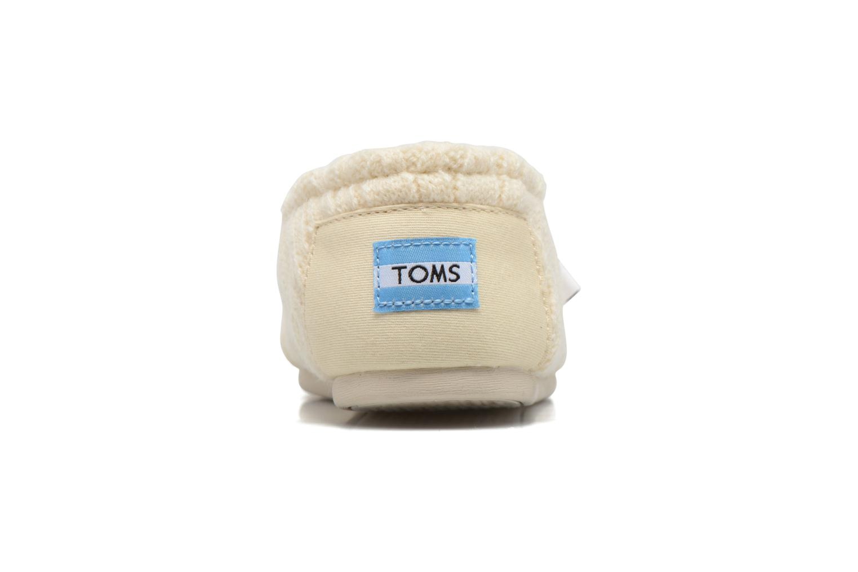 Mocassins TOMS Seasonal classics knit Wit rechts