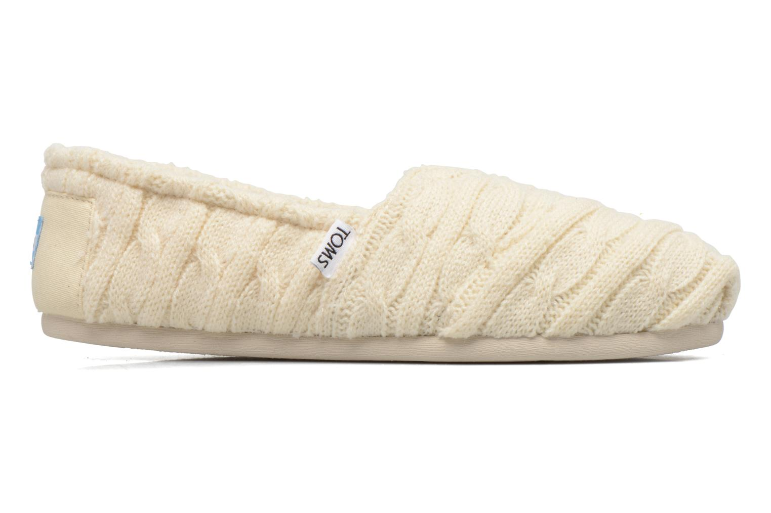 Mocassins TOMS Seasonal classics knit Wit achterkant
