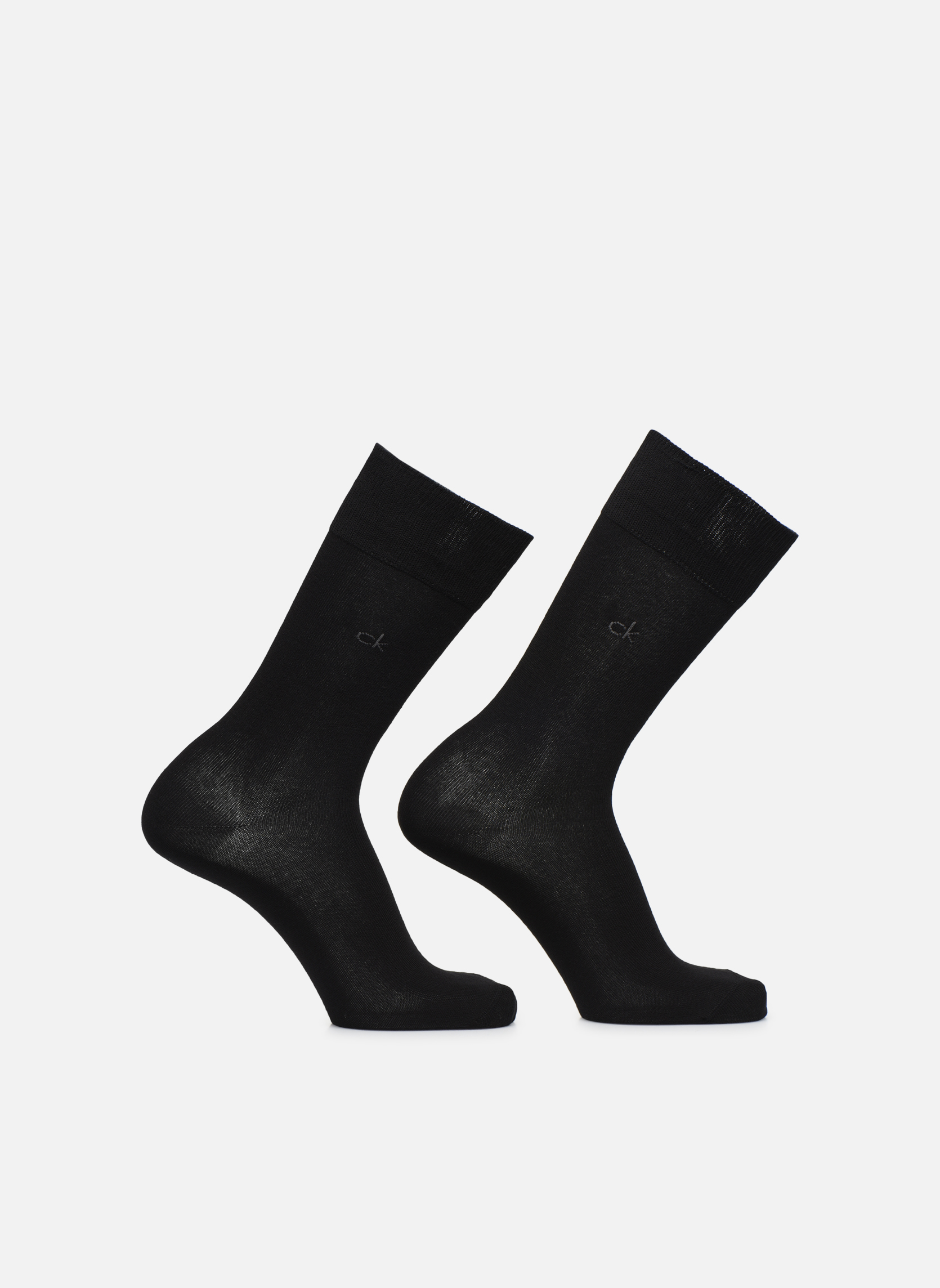 Socks & tights Calvin Klein Lot de 2 paires de Chaussettes Coton Unies Black detailed view/ Pair view