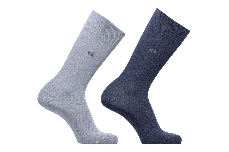 Chaussettes et collants Calvin Klein Lot de 2 paires de Chaussettes Coton Unies Bleu vue détail/paire