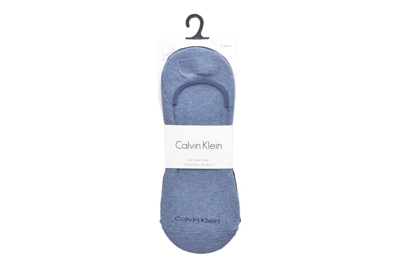 Chaussettes et collants Calvin Klein Lot de deux paires de Chaussettes Invisibles Unies Bleu vue derrière