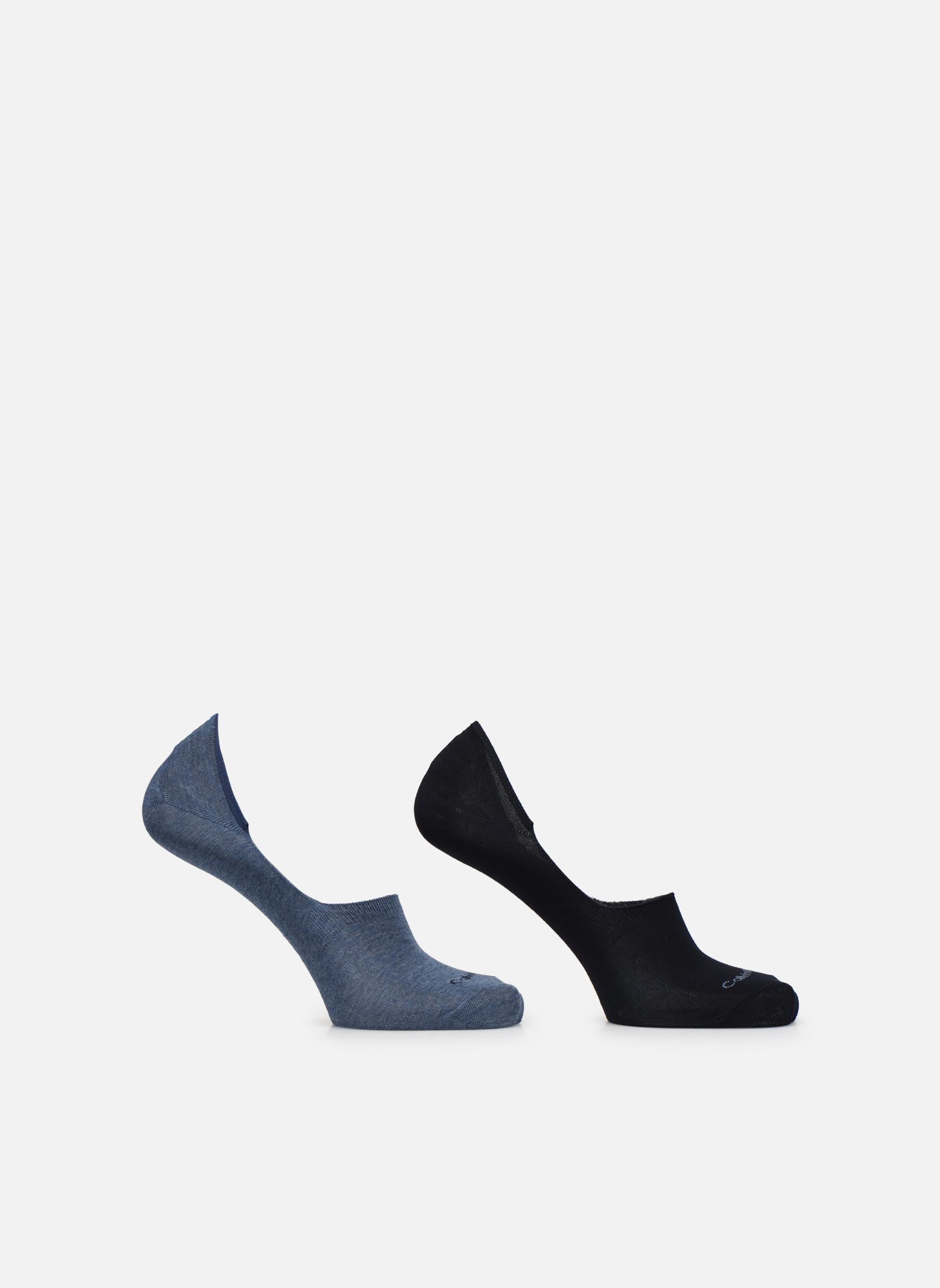 Socks & tights Calvin Klein Lot de deux paires de Chaussettes Invisibles Unies Blue detailed view/ Pair view