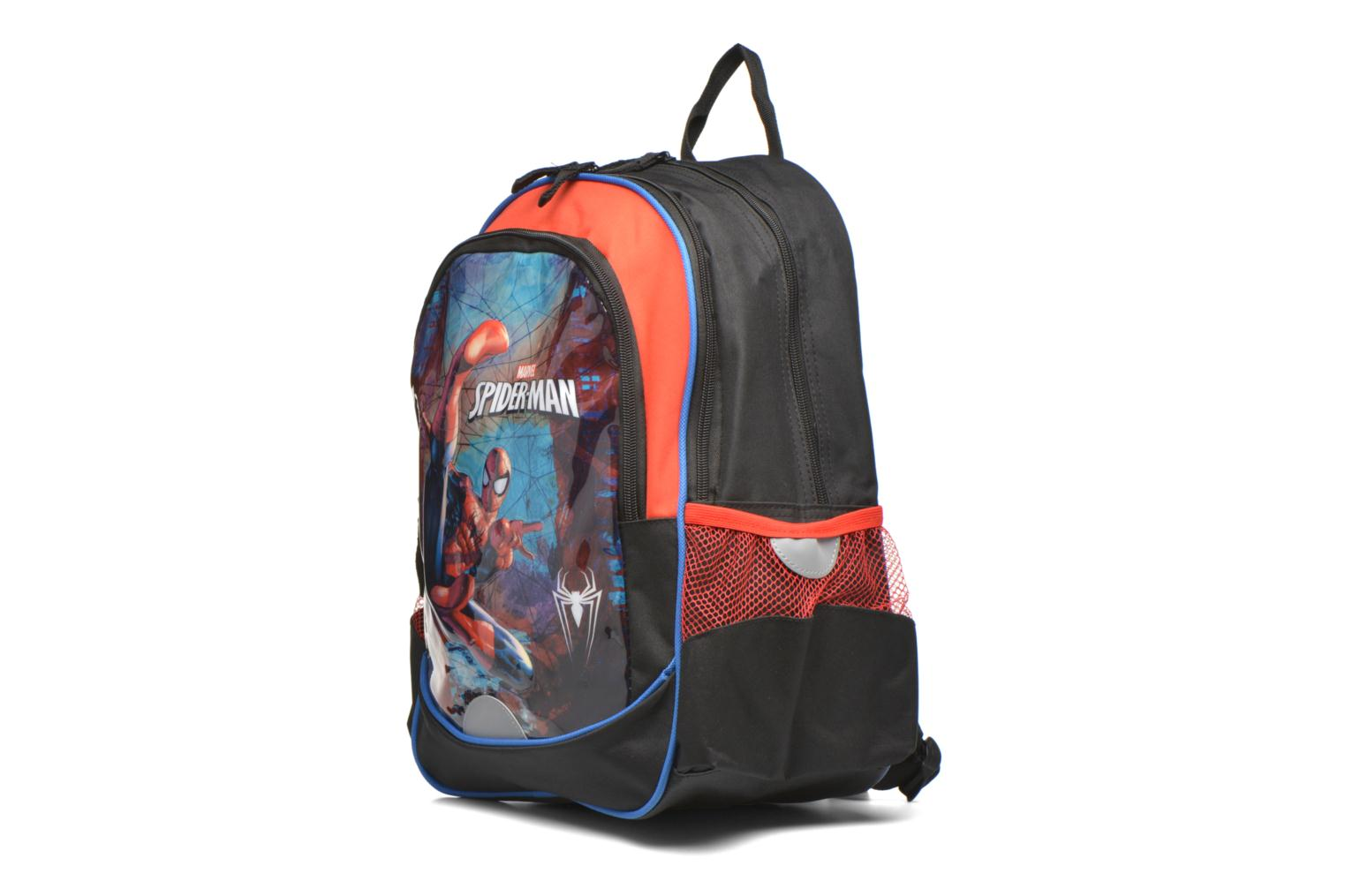 Bandoleras y Colegio Disney Spiderman Backpack Negro vista del modelo