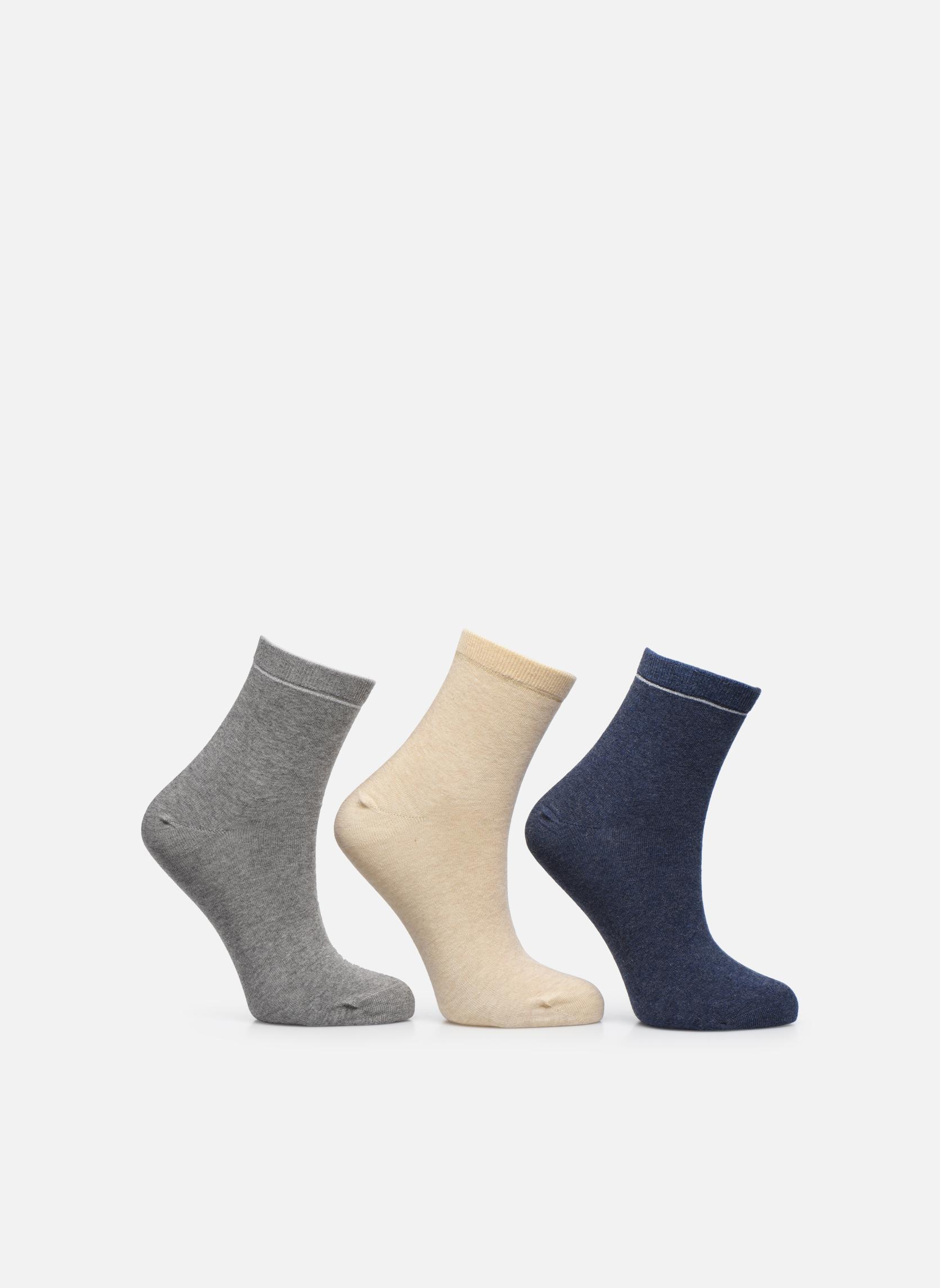 Chaussettes unies Pack de 3 femme coton