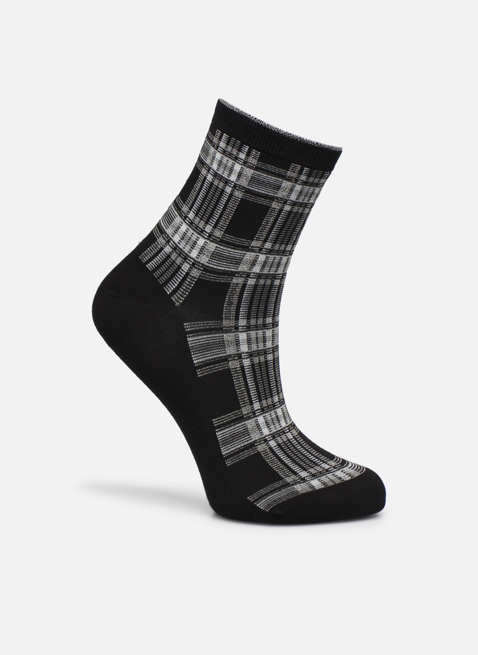 Chaussettes lurex femme coton Noir